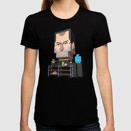 Steve Jobs 3D pixel portrait T-shirt