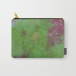 Delhi India Street Map Art Watercolor Green Planet Carry-All Pouch