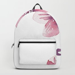 Lilac Pink Watercolour Fiordland Flower Backpack