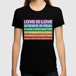 Social Justice Activist Sign Equity Protest Inclusive Climate Change LBGT Equality T-shirt