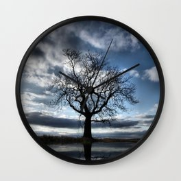 Wintering Oak Tree Wall Clock