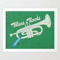 blues n roots Art Print