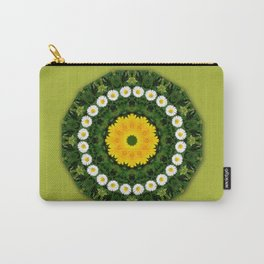 Daisies, Nature Flower Mandala, Floral mandala-style Carry-All Pouch