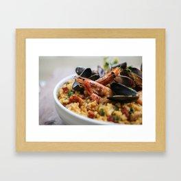Paella Framed Art Print