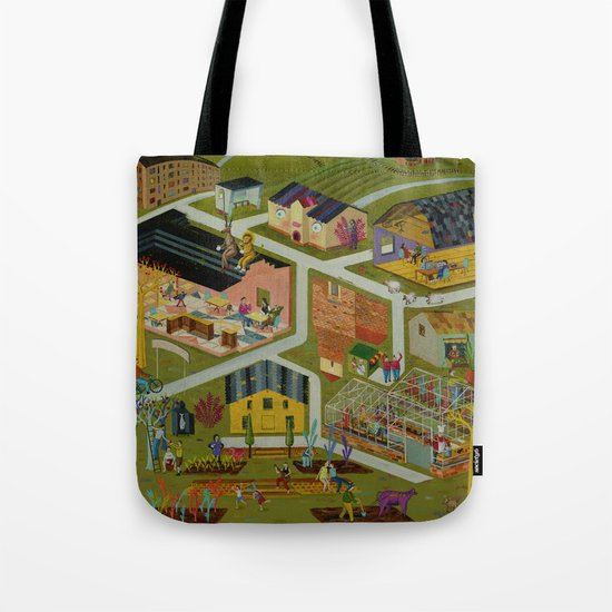 map of a village Tote Bag