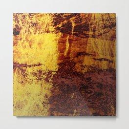 Abstract 21 - Firey Metal Metal Print