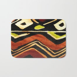 Africa Design Fabric Texture Bath Mat