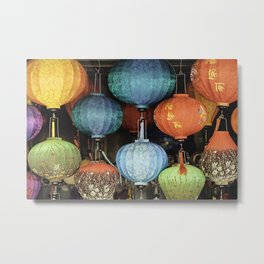 Colorful Vietnamese Lanterns Metal Print