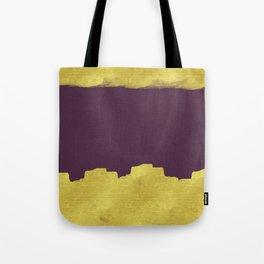 Purple & Gold Pattern | Digital Design Tote Bag