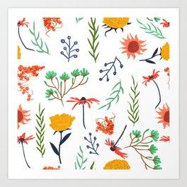 Rustica #illustration #pattern Art Print