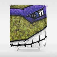 teenage mutant ninja turtles Shower Curtains featuring Donatello (Teenage Mutant Ninja Turtles) by chris panila