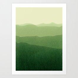 gradient landscape green Art Print
