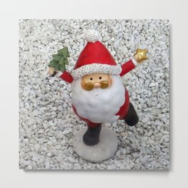 Cute little Santa Metal Print