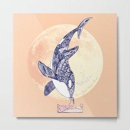 Kiss Good Night - Orca II Metal Print