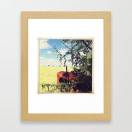 out in the farm  Framed Art Print