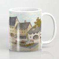 german Mugs featuring German Village by rob carey