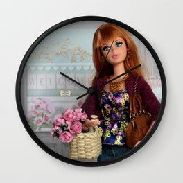 ** It's always a good day to buy flowers ** Wall Clock