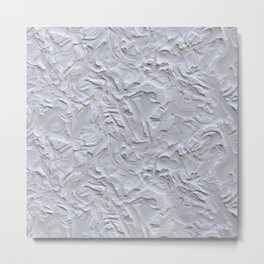 White Rough Plastering Texture Metal Print