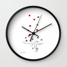 Polka Dots Flamenco Wall Clock