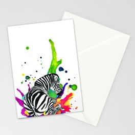Zebra splat Stationery Cards