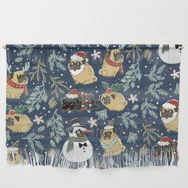 Christmas Pugs Wall Hanging