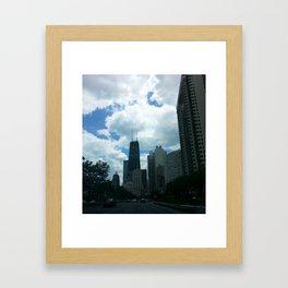 John Hancock Building Lakeshore Drive Framed Art Print