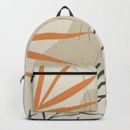 Minimal Line Art Woman And Palm Leaves #Society6 #Buyart Backpack