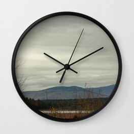 Late Fall Mountain Wall Clock