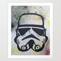 trooper Art Prints featuring Trooper by Cyndi Sabido