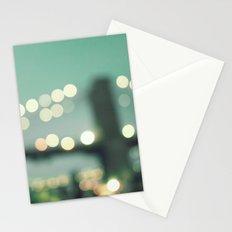 New York, Brooklyn bridge magical lights Stationery Cards