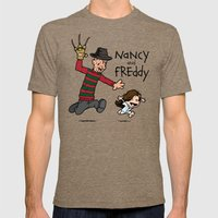Nancy and Freddy Mens Fitted Tee 2X-LARGE Tri-Coffee
