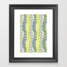 seagrass pattern - teal and lime Framed Art Print