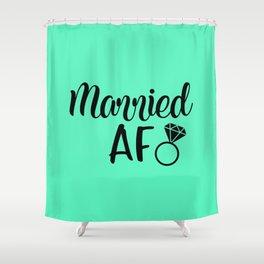Married AF - Mint Shower Curtain