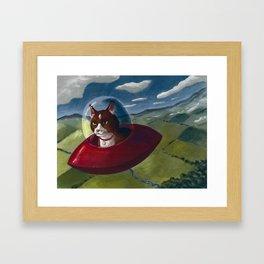 Saucer Cat Framed Art Print