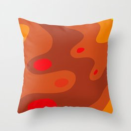 Fall, Autumn, abstract design. Waves, swirls, spots. Throw Pillow