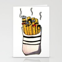 french fries Stationery Cards featuring French Fries by Bubblesquat