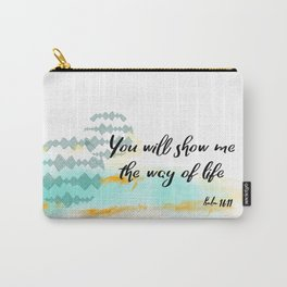Pslam 16:11 Way of Life, Christian Scripture Abstract Art Carry-All Pouch