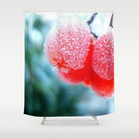 frozen Shower Curtains featuring Frozen by Antonia Elena
