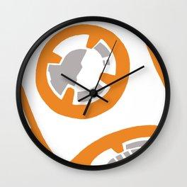 Orange and Gray Color Block Wall Clock