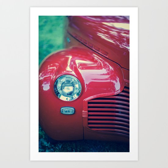 The Cool Factor (Red) Art Print