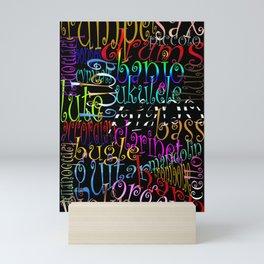 Graphic Music Mini Art Print