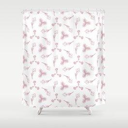 Pale pink floral garden Shower Curtain
