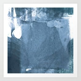 Blue and White Abstract Painting 2 Art Print