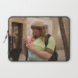 A Soldier & His Baby Laptop Sleeve