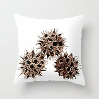 gumball Throw Pillows featuring Gumball Trio by Beth Thompson