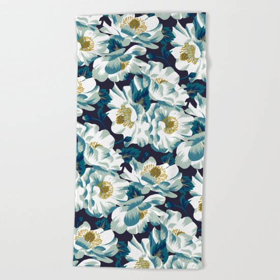 Mount Cook Lily (Night) Beach Towel