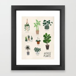 Houseplant Love Framed Art Print
