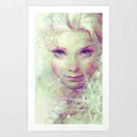 elsa Art Prints featuring Elsa by Anna Dittmann