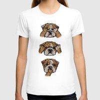 english bulldog T-shirts featuring Noevil English Bulldog by Huebucket