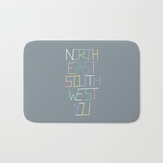 North East South West You Bath Mat
